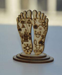 Lord Chaitanya lotus feet statue