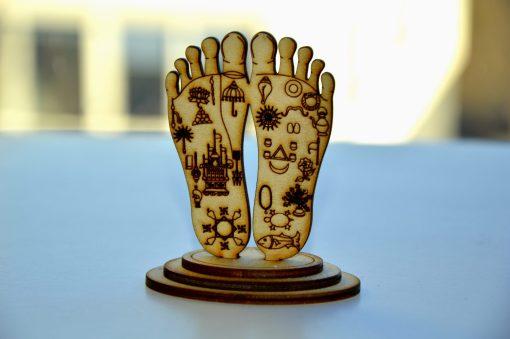 Lord Chaitanya lotus feet statue engraved symbols