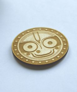 Jaganatha keychain smiling face perfect circle engraved 4