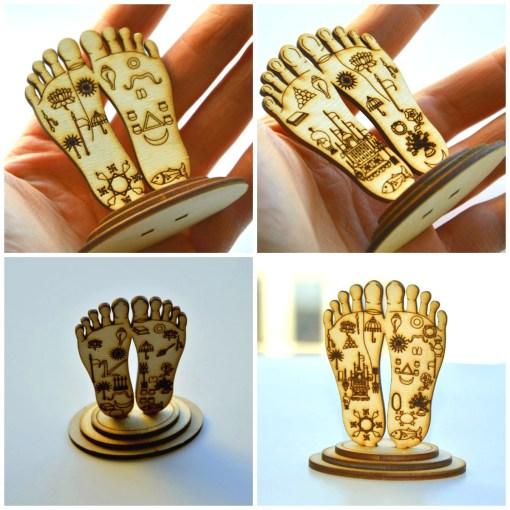 Lotus feet Statues Krishna Radha Nityananda Gaurana