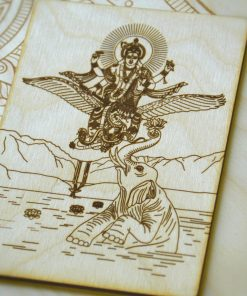 Garuda and Vishnu postcard Shyamantaka
