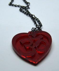 Om necklace red