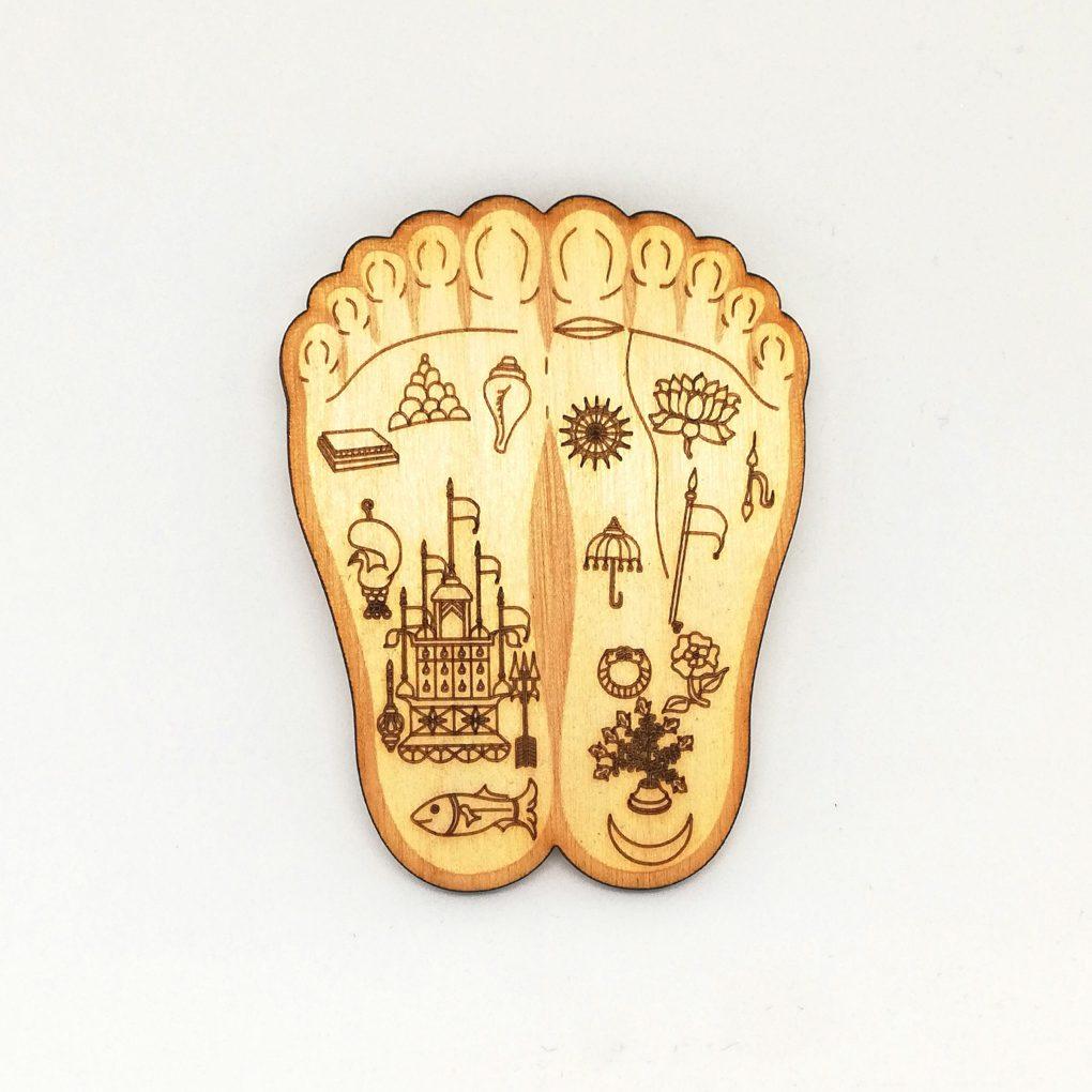 Radha Lotus Feet Engraved wall deco