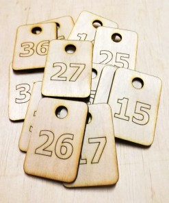 Dressing Room Number Wooden