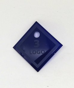 Acrylic Number Tag With Custom text and Number - Laser Cut - Dressing Room.1