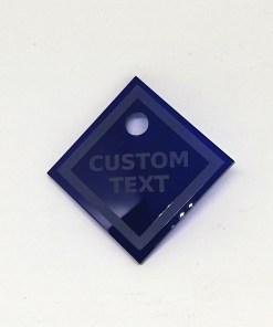 Acrylic Number Tag With Custom text and Number - Laser Cut - Dressing Room