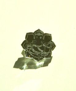 Ganesh Brooch Laser Cut Mirror Jewelry The Hindu God 1