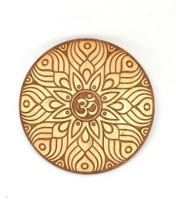 Om AUM wooden coaster laser cut and engraved 111