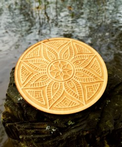 Ornament coaster engraved from wood 1