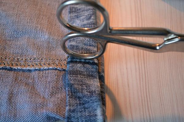 Как смягчить грубый участок джинсов