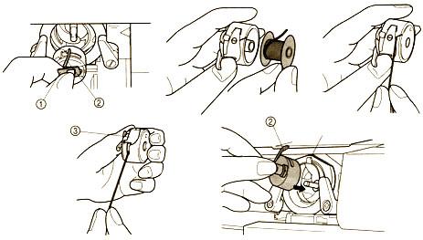 Заправка нижней нитки