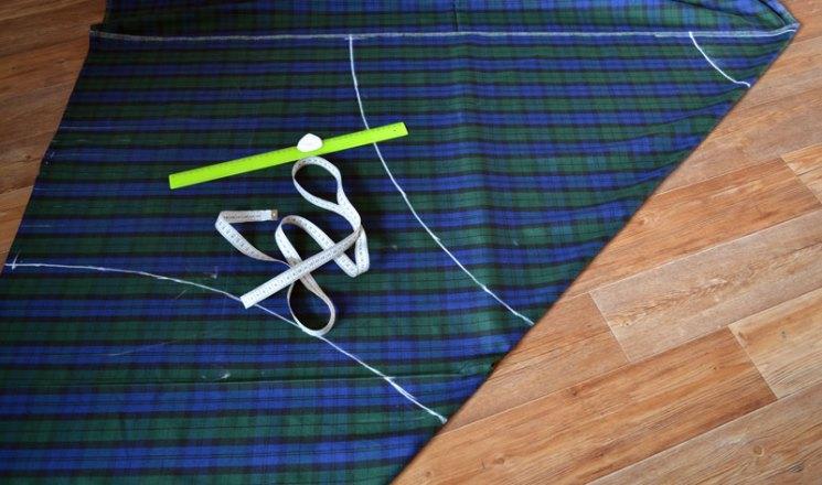 Вторая часть выкройки юбки-полусолнце