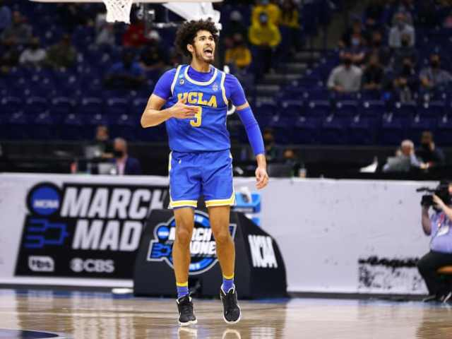 UCLA's Johnny Juzang during the Bruins' game vs. Michigan