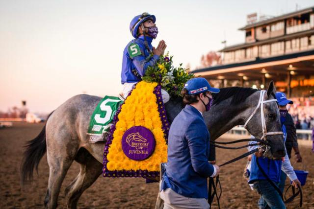 Essential Quality's win at the Breeders' Cup Juvenile last November set him up as the Derby favorite.