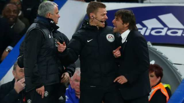 Managers Jose Mourinho and Antonio Conte in the Premier League
