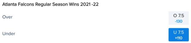 Atlanta Falcons Win Total Odds via FanDuel Sportsbook