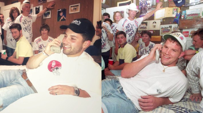 Baker Mayfield recreates Brett Favre NFL Draft photo - Sports Illustrated