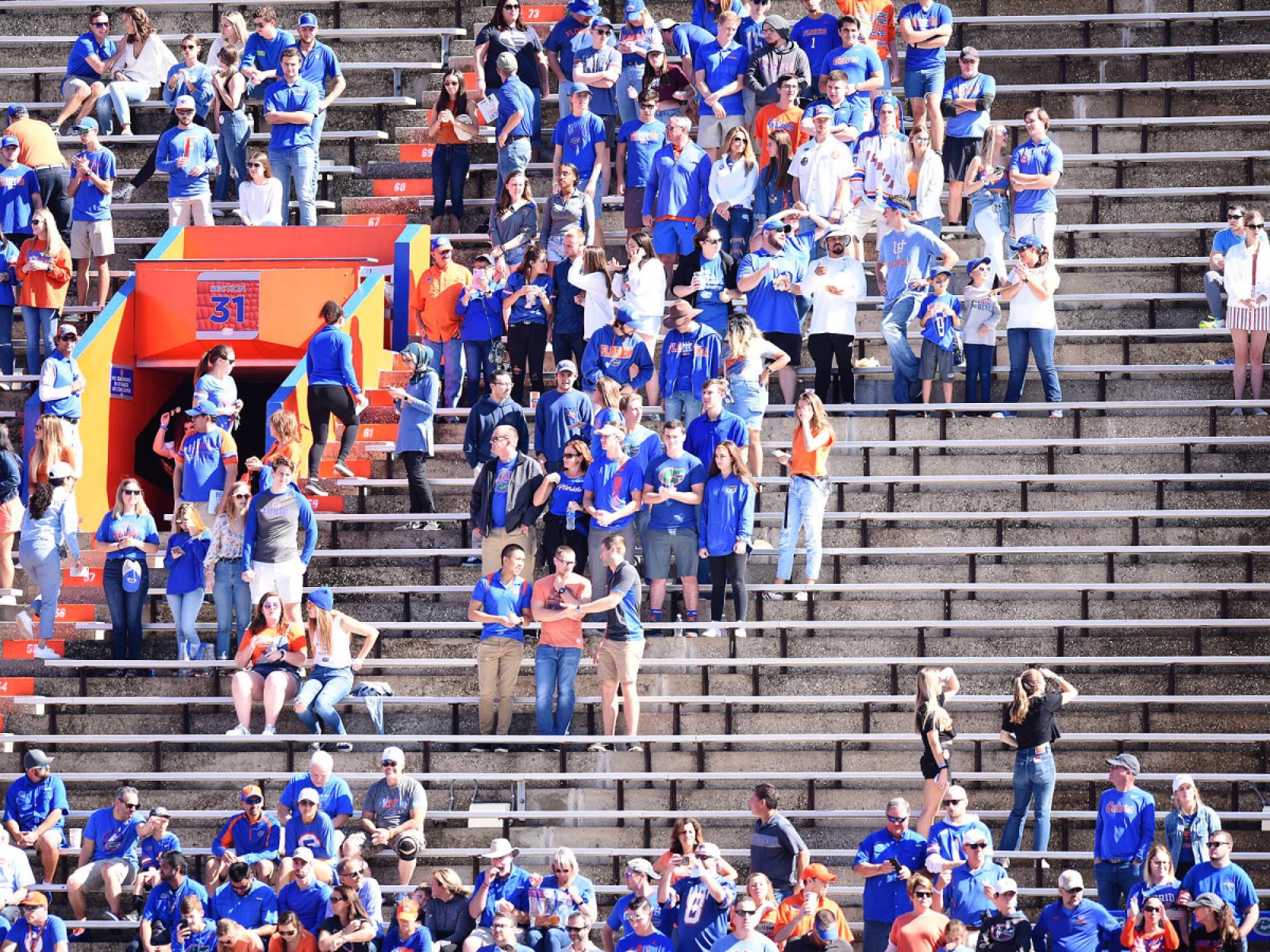 Florida football fan attendance