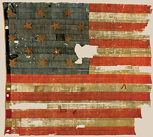Star-spangled Banner and the War of 1812 - The original Star-Spangled Banner, the flag that inspired Francis Scott Key to write the song that would become our national anthem, is among the most treasured artifacts in the collections of the Smithsonian's National Museum of American History in Washington, D.C.