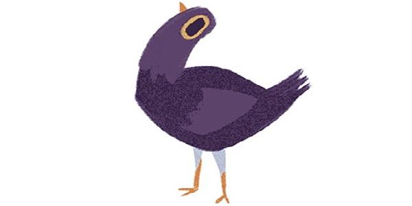 Il piccione viola  ladesivo pi in voga sui social e