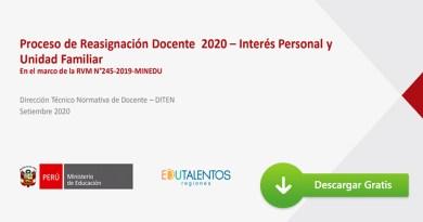 CONOCE COMO SERÁ EL PROCESO DE REASIGNACIÓN DOCENTE 2020[PPT]