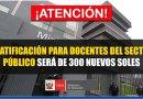 ATENCIÓN: Gratificación por Fiestas Patrias para Docentes de Sector Público será de 300 Nuevos Soles [Conócelo aquí]