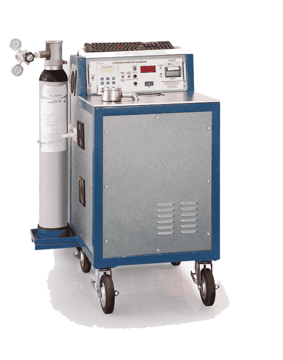Hydrogen content analysis molten aluminium