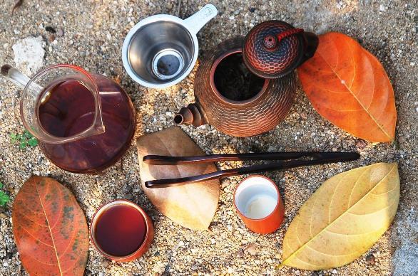 Da Hong Pao Oolong tea celebrated in my garden