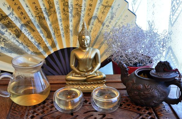 Fuding White Silver Needle Tea with Buddha
