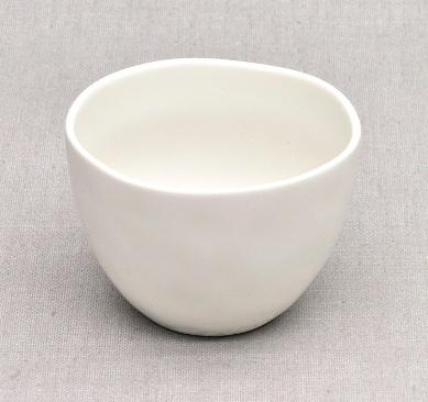 Japanese Chawan (teacaup), porcelain, white, 120mlan), bone china, white, 120ml