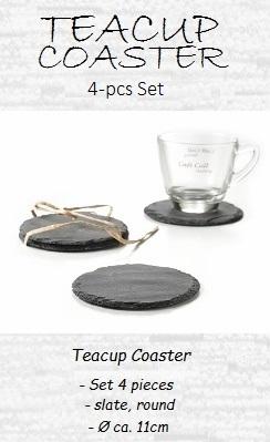 Tea Cup Coaster, slate, Ø 11cm