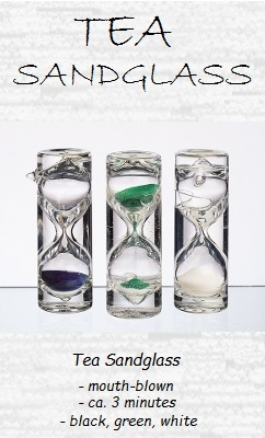 Tea Sandglass Set 'Tea Time', 3-pcs, white, blue, green; 1-3 minutes