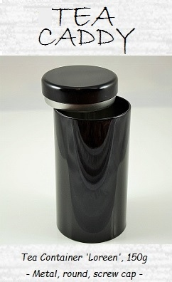 Tea Container 'Loreen', 150g, round, screw cap