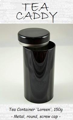 Tea Container 'Loreen', 150g, round, screw cap