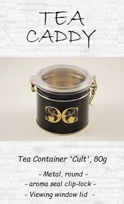 Tea Container 'Cult', 80g - Metal / Plastic, round