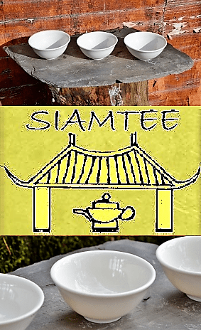 SiamTeas Signature Porcelain Tea Cup, 100% handmade according to SiamTeas specifications