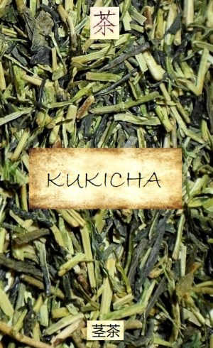 Kukicha green tea - special type of Japanese Sencha tea, mainly based on tender leaf stems