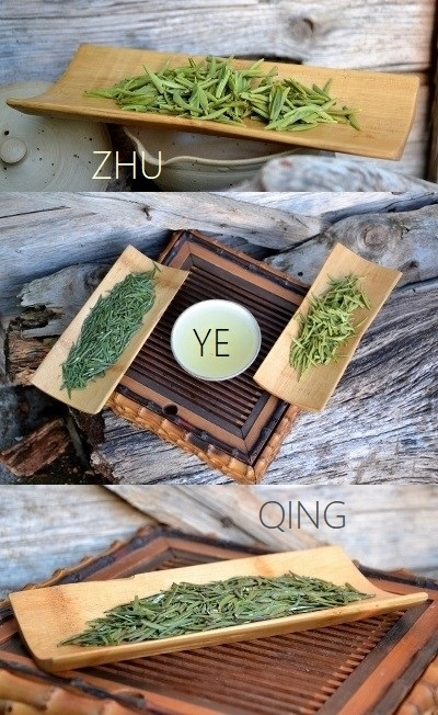 Zhu Ye Qing Green Tea - pure unopened buds with white hair removed, from Emei Shan, Sichuan