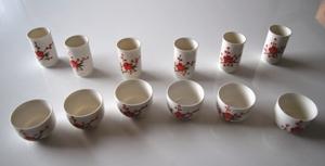 Chinesisches Riechbecher / Trinkschalen Set 'Blossoms 1' für die Teeverkostung