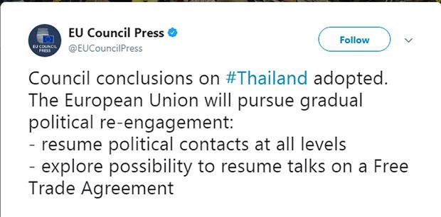 rapporti Unione Europea Thailandia