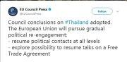 Si rinforzano i rapporti Unione Europea Thailandia