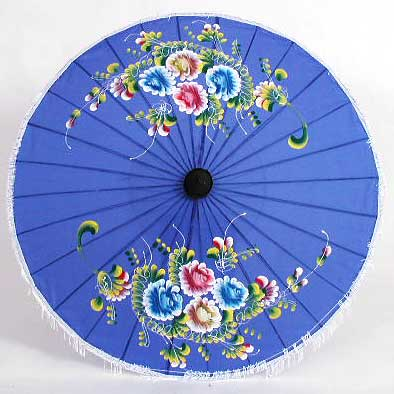 Small Asian Cloth Parasol from Thailand Siamese Dream