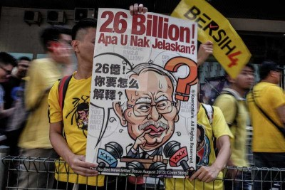 MALAYSIA, Kuala Lumpur: Thousands of Malaysians took to the streets of Kuala Lumpur on August 30, 2015 to rally for the resignation of Prime Minister Najib Razak. (Photo: AAP)
