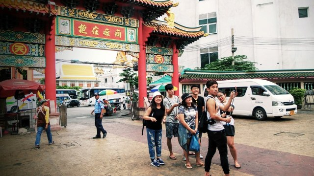 Tourists from China visiting Thailand