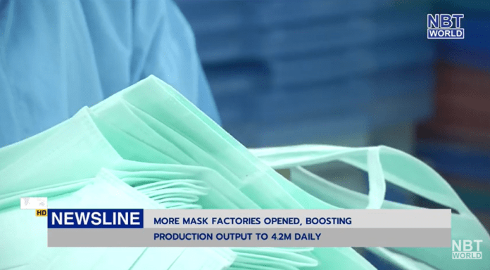 More mask factories opened, boosting production output to 4.2m...