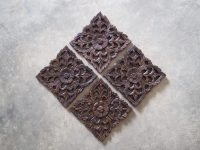 Buy Set of 4 Decorative Wood Wall Sculpture Online