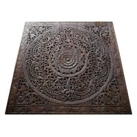 Oriental Decorative Wood Carving Wall Art Paneling