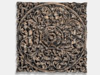 Exotic Hand Carved Wooden Wall Art Hanging Panel - Siam ...