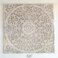 Buy Rustic Antique Wood Carving Wall Art Hanging Online