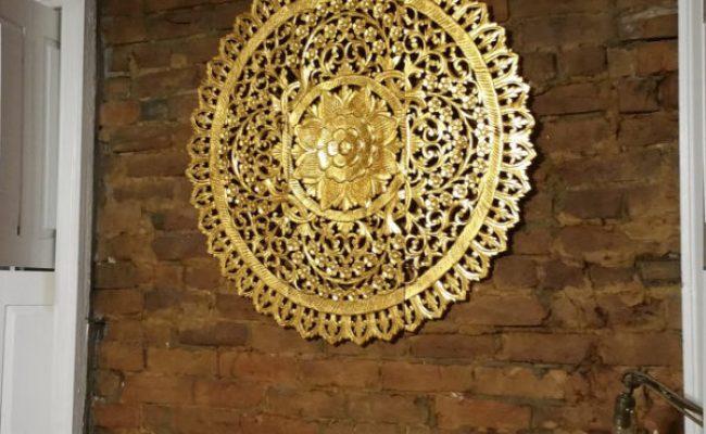 Buy Mandala Wood Carving Wall Panel Decor Mandala Wall